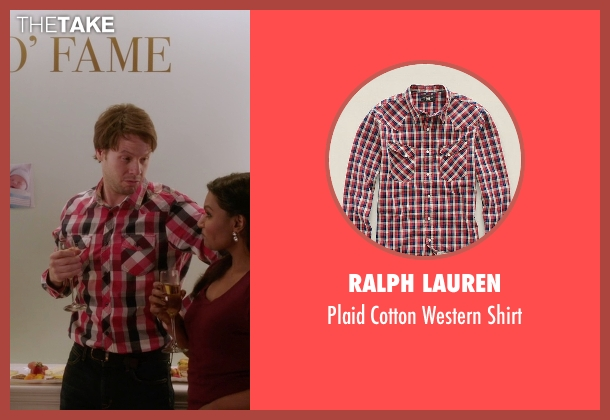 Ralph Lauren white shirt from The Mindy Project seen with Morgan Tookers (Ike Barinholtz)