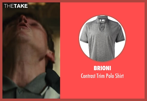 Brioni gray shirt from Kingsman: The Secret Service seen with Morgan Watkins (Unknown Character)