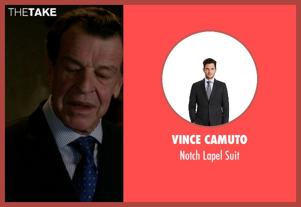 Vince Camuto black suit from Elementary seen with Morland Holmes (John Noble)