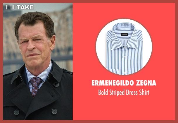 Ermenegildo Zegna blue shirt from Elementary seen with Morland Holmes (John Noble)
