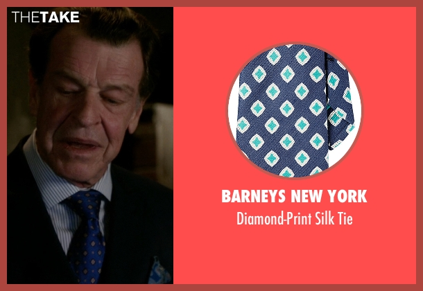 Barneys New York blue tie from Elementary seen with Morland Holmes (John Noble)