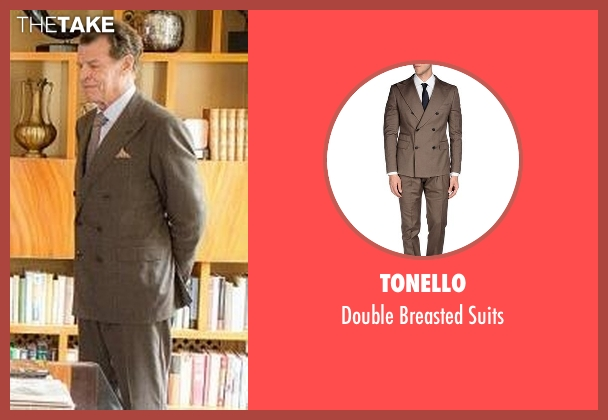 Tonello brown suits from Elementary seen with Morland Holmes (John Noble)