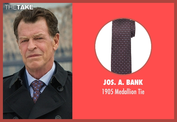 Jos. A. Bank brown tie from Elementary seen with Morland Holmes (John Noble)