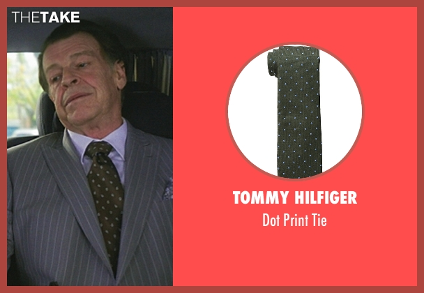 Tommy Hilfiger green tie from Elementary seen with Morland Holmes (John Noble)