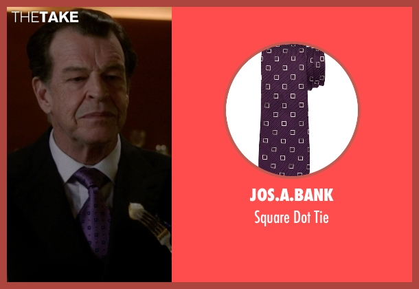 Jos.A.Bank purple tie from Elementary seen with Morland Holmes (John Noble)