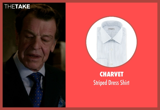 Charvet white shirt from Elementary seen with Morland Holmes (John Noble)