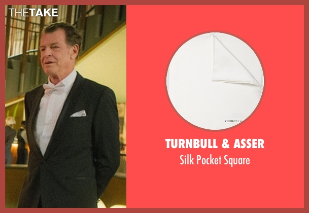 Turnbull & Asser white square from Elementary seen with Morland Holmes (John Noble)