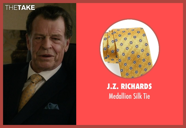 J.Z. Richards yellow tie from Elementary seen with Morland Holmes (John Noble)