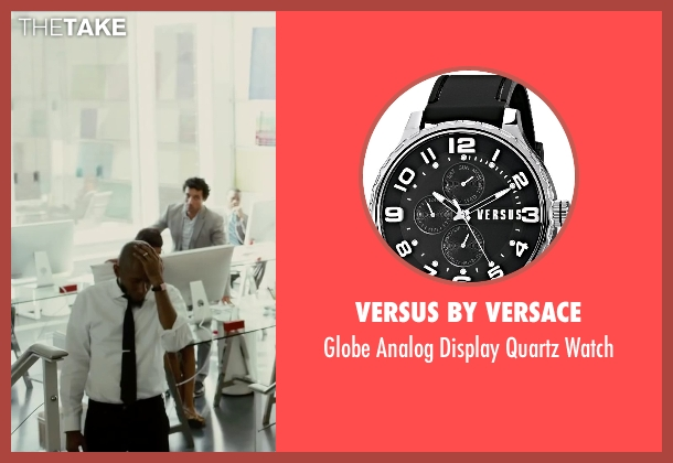 Versus by Versace black watch from Begin Again seen with Mos Def (Saul (as Yasiin Bey))