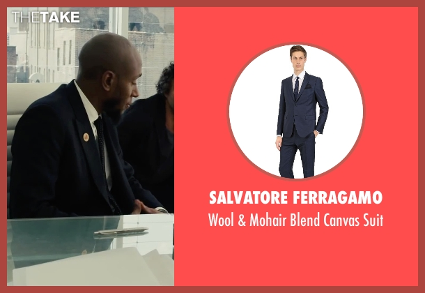 Salvatore Ferragamo blue suit from Begin Again seen with Mos Def (Saul (as Yasiin Bey))
