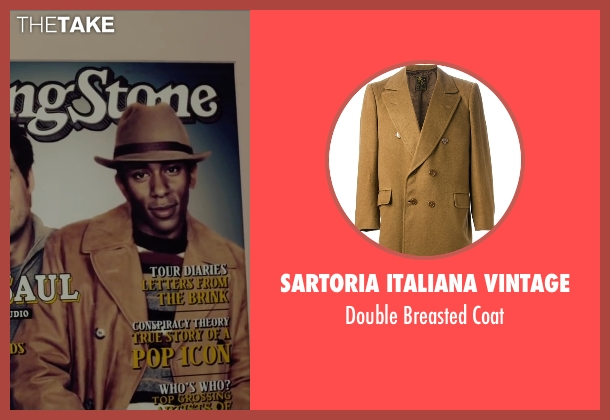 Sartoria Italiana Vintage brown coat from Begin Again seen with Mos Def (Saul (as Yasiin Bey))