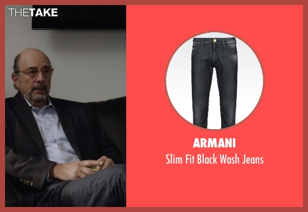 Armani black jeans from Ballers seen with Mr. Anderson (Richard Schiff)
