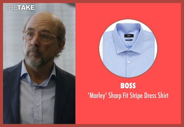 Boss blue shirt from Ballers seen with Mr. Anderson (Richard Schiff)