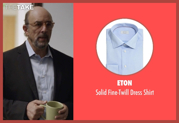 Eton blue shirt from Ballers seen with Mr. Anderson (Richard Schiff)