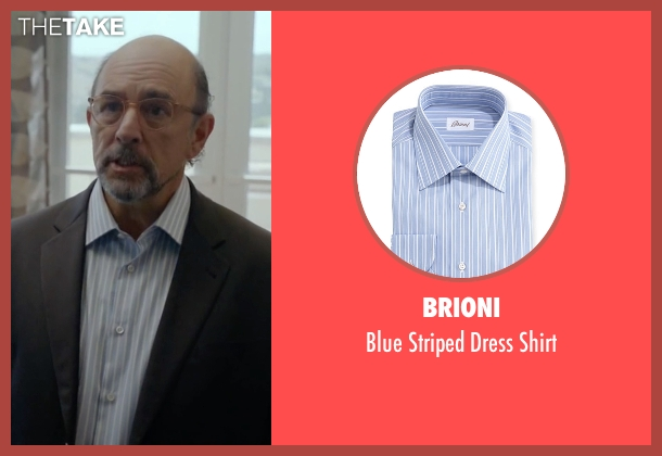 Brioni blue shirt from Ballers seen with Mr. Anderson (Richard Schiff)