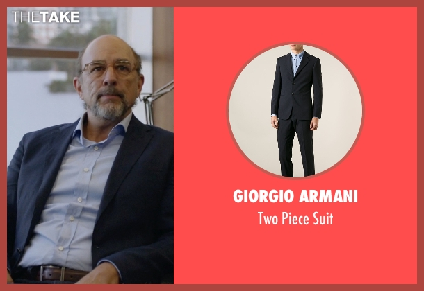 Giorgio Armani blue suit from Ballers seen with Mr. Anderson (Richard Schiff)