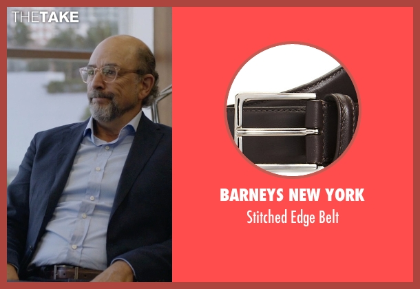 Barneys New York brown belt from Ballers seen with Mr. Anderson (Richard Schiff)