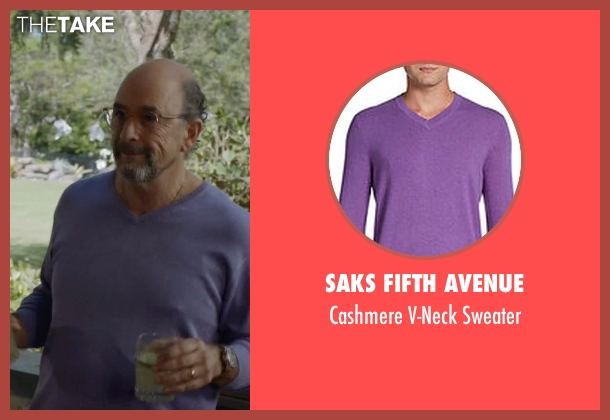 Saks Fifth Avenue purple sweater from Ballers seen with Mr. Anderson (Richard Schiff)