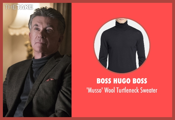 Boss Hugo Boss black sweater from Scream Queens seen with Mr. Radwell (Alan Thicke)
