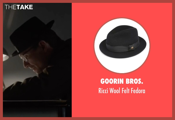 Goorin Bros. black fedora from Mr. Robot seen with Mr. Robot (Christian Slater)