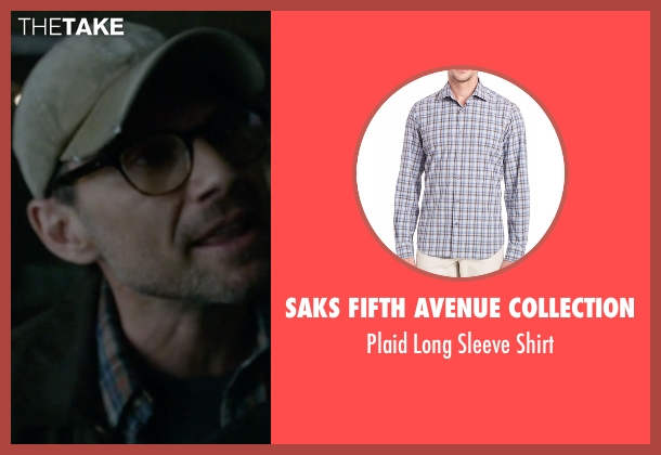 Saks Fifth Avenue Collection blue shirt from Mr. Robot seen with Mr. Robot (Christian Slater)