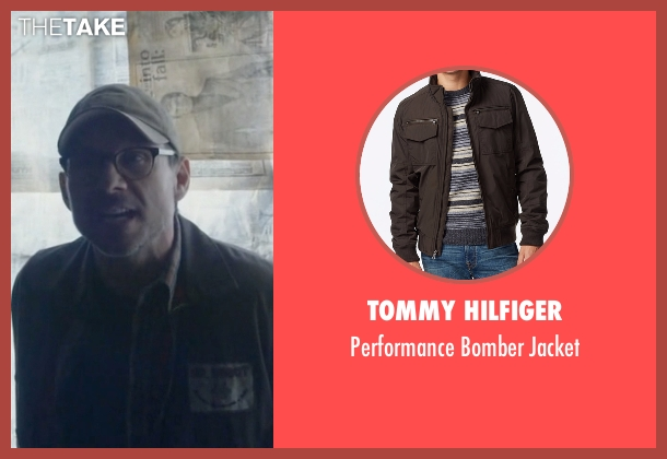 Tommy Hilfiger brown jacket from Mr. Robot seen with Mr. Robot (Christian Slater)