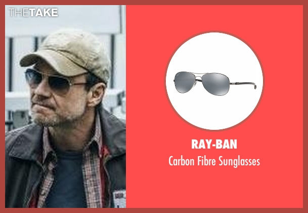 Ray-Ban silver sunglasses from Mr. Robot seen with Mr. Robot (Christian Slater)