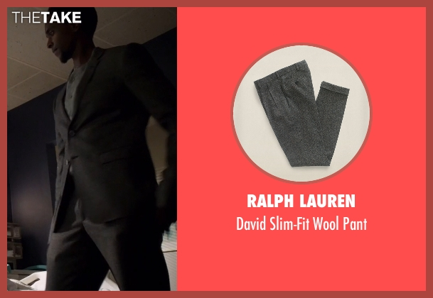 Ralph Lauren gray pant from The Blacklist seen with Mr. Solomon (Edi Gathegi)