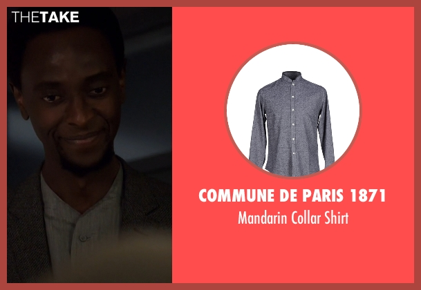 Commune De Paris 1871 gray shirt from The Blacklist seen with Mr. Solomon (Edi Gathegi)