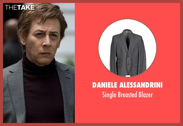 Daniele Alessandrini gray blazer from The Blacklist seen with Mr. Vargas (Paul Reubens)