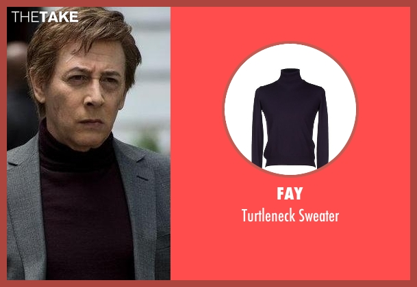 Fay purple sweater from The Blacklist seen with Mr. Vargas (Paul Reubens)
