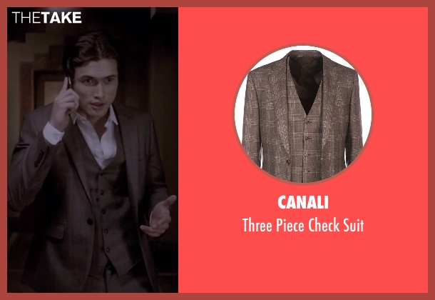 Canali brown suit from American Horror Story seen with Mr. Wu (Charles Melton)