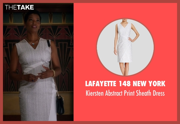 Lafayette 148 New York white dress from The Flash seen with Mrs. West (Vanessa Williams)