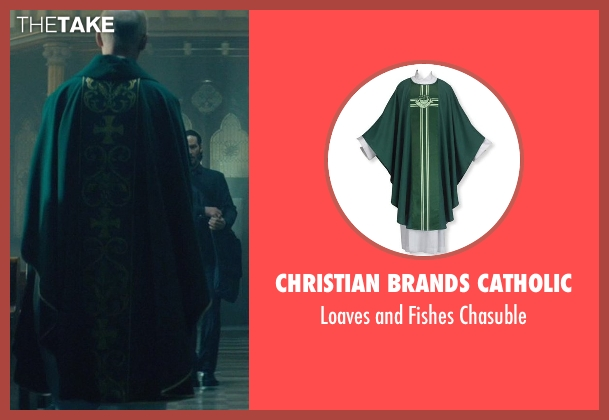 Christian Brands Catholic chasuble from John Wick seen with Munro M. Bonnell (Priest)