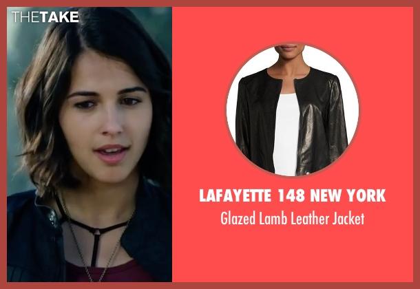 Lafayette 148 New York black jacket from Power Rangers seen with Naomi Scott (Kimberly Hart / Pink Ranger)