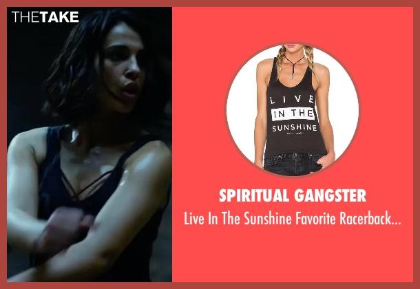 Spiritual Gangster black top from Power Rangers seen with Naomi Scott (Kimberly Hart / Pink Ranger)