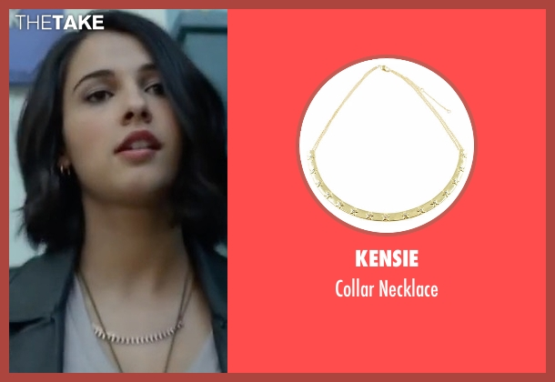 Kensie gold necklace from Power Rangers seen with Naomi Scott (Kimberly Hart / Pink Ranger)