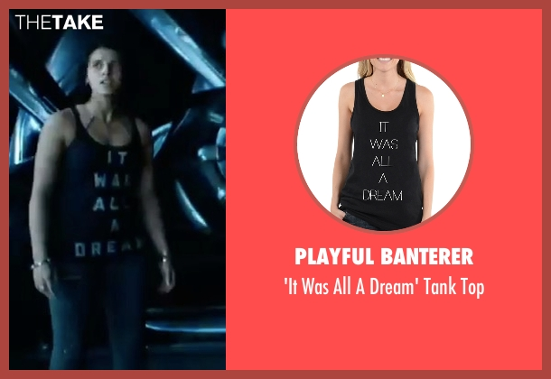 Playful Banterer black top from Power Rangers seen with Naomi Scott (Kimberly Hart / Pink Ranger)