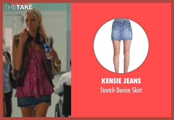Kensie Jeans blue skirt from St. Vincent seen with Naomi Watts (Daka)