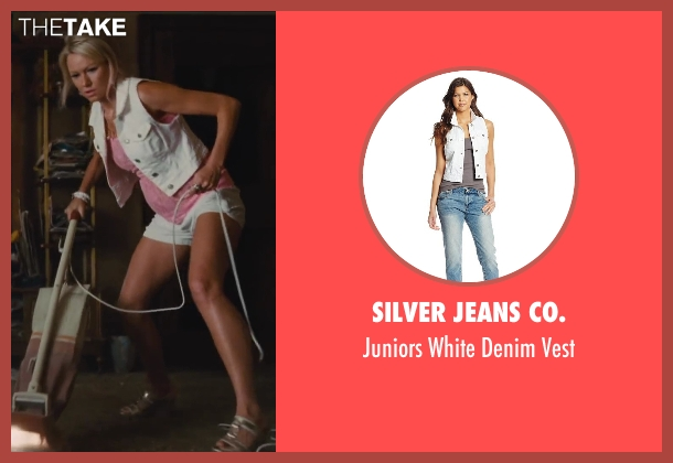 Silver Jeans Co. white vest from St. Vincent seen with Naomi Watts (Daka)