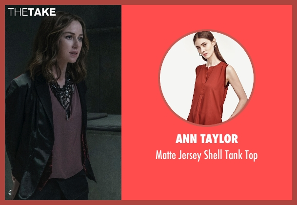 Ann Taylor red top from The Divergent Series: Allegiant seen with Naomi Watts (Evelyn)