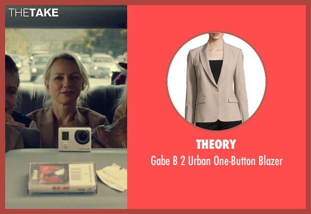 Theory beige blazer from While We're Young seen with Naomi Watts (Cornelia)