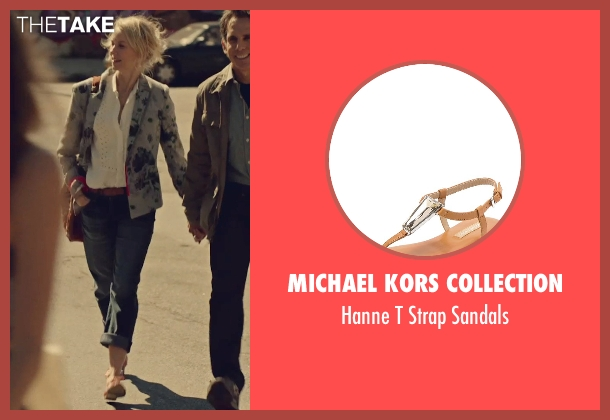 Michael Kors Collection beige sandals from While We're Young seen with Naomi Watts (Cornelia)
