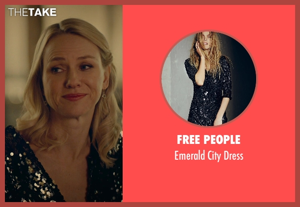 Free People black dress from While We're Young seen with Naomi Watts (Cornelia)