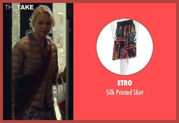 Etro black skirt from While We're Young seen with Naomi Watts (Cornelia)