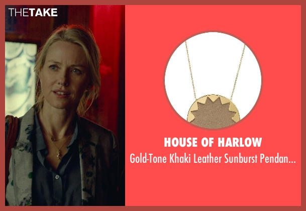 House of Harlow gold necklace from While We're Young seen with Naomi Watts (Cornelia)