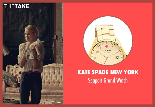Kate Spade New York gold watch from While We're Young seen with Naomi Watts (Cornelia)