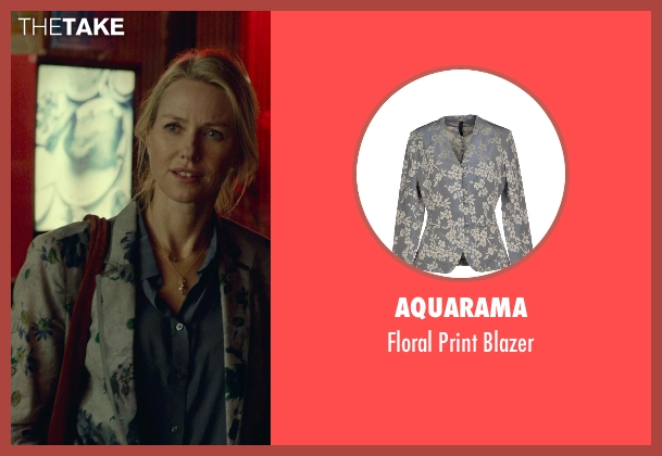 Aquarama gray blazer from While We're Young seen with Naomi Watts (Cornelia)