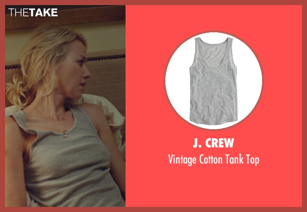 J. Crew gray top from While We're Young seen with Naomi Watts (Cornelia)