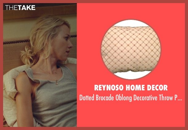 Reynoso Home Decor pillow from While We're Young seen with Naomi Watts (Cornelia)